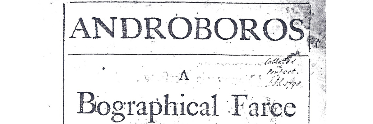 Androboros: A Biographical Farce Title Page